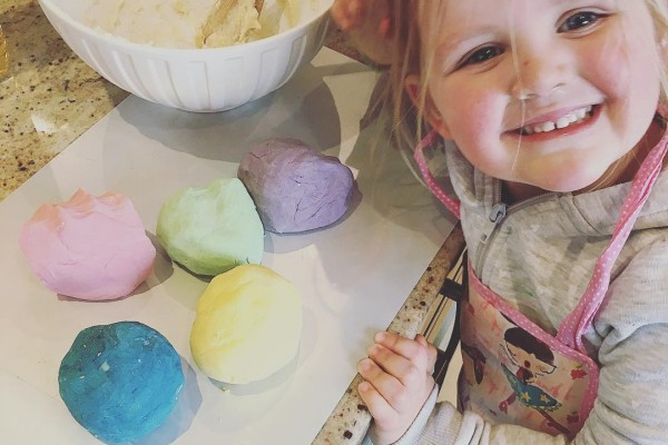 Softest homemade play dough